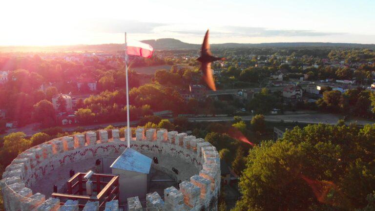 Zamek w Będzinie z drona Mavic Air i sound design